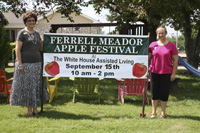 L-R: Knollwood and White House Assisted Living co-administrators Linda Austin and Beverly Walker invite everyone to come out to the 7th Annual Ferrell Meador Apple Festival. (Photo by: J. Williams)