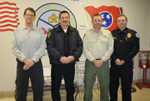 Several officials attended the special called meeting of the BOE last week to plan ways to make our schools safer. L-R: Lafayette Mayor Richard Driver, RBS Chief of Police Terry Tuck, Macon County Sheriff Mark Gammons and Lafayette Chief of Police Stacy Gann