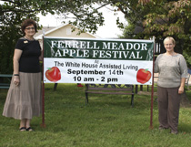 Knollwood & White House Assisted Living co-administrators Linda Austin & Beverly Walker invite everyone to come out to the 8th annual Ferrell Meador Apple Festival.