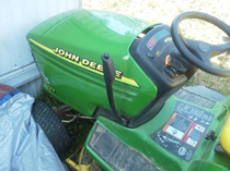 This lawn mower was stolen out of Kentucky and sold to a Macon County resident.