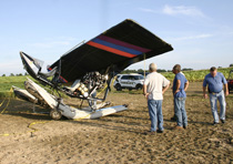 911 Director Steve Jones, EMA Director Keith Scruggs, Lafayette Police Chief Stacy Gann and the Macon County Sheriffs Office were at the scene of an airplane crash on Sunday afternoon.