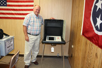 Macon County Commissioner of Elections Barry Doss encourages everyone to take advantage of the early voting period, July 18 - August 2, for the August 7, 2014 Macon County State Primary & County General Election. (Photo by: J. Williams)