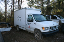 Pictured above is the recovered 2002 Ford box truck reported stolen from the Scottsville Rd. area on January 2, 2015.