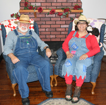 Pictured above are this year's Mr. Hillbilly, Bill Gordon, and Mrs. Hillbilly Angie Sullivan (Photo by: J. Williams)