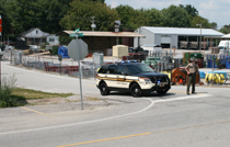 The Tennessee Highway Patrol secured all traffic to and from LES following the report of a bomb threat.