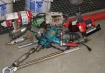 Pictured above, are some of the stolen items found during the raid.