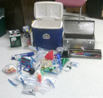 Pictured above are items from the meth lab that were confiscated by the Macon County Sheriff's Office.