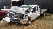 Pictured above is the stolen truck crashed by a juvenile suspect in Portland, TN, following a high speed chase by local authorities last weekend.