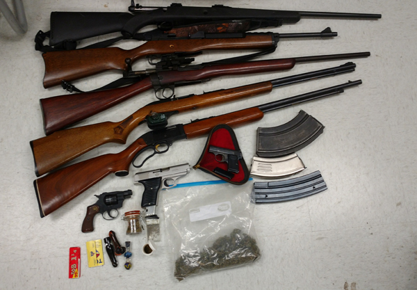 Probation Search: Drugs & Guns Found