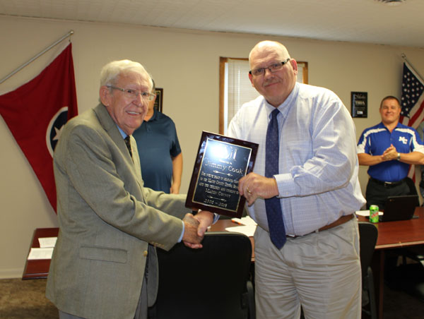 Macon County School Board Recognizes Jimmy Cook