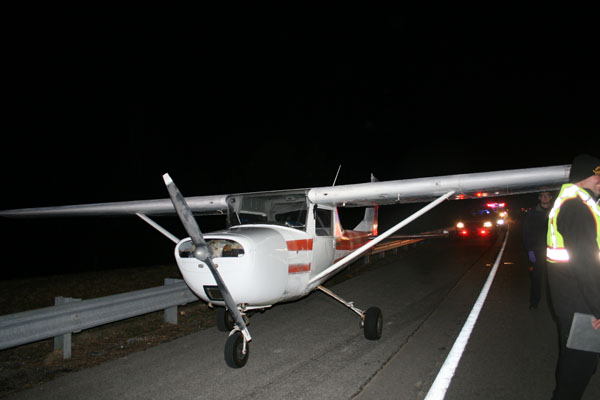 Airplane Makes Emergency Landing on Hwy 52