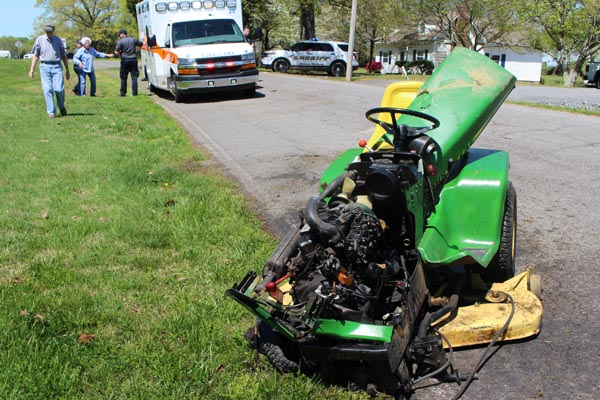 Lawn Mower Vs. Tractor Trailer