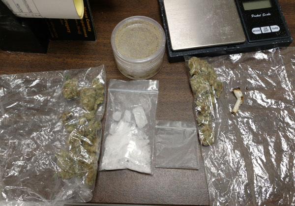Meth & Marijuana Found in Vehicle