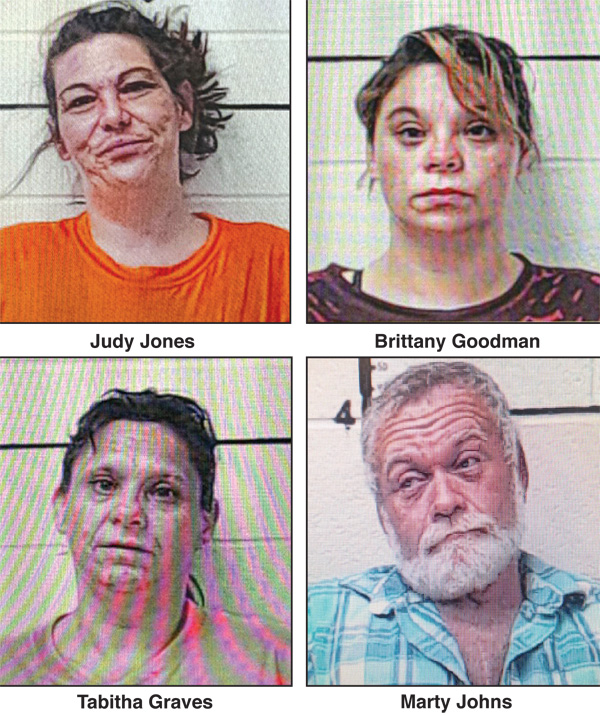 Four Arrested for Meth, Needles & Pills