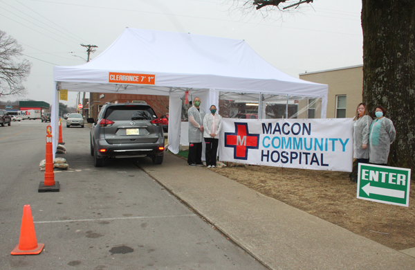 Macon Community Hospital Adds COVID-19 Testing Tent