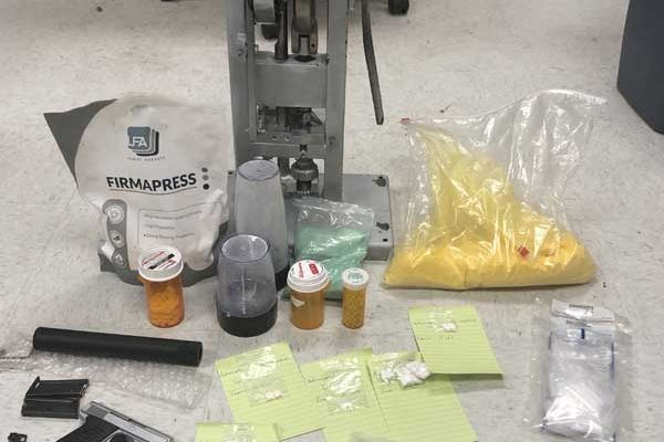Drugs & Pill Press Seized: Approx. 2,000 Pills Made Daily